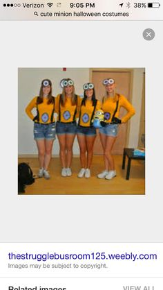 Cute minion Halloween costume! Minion Halloween Costumes, Cute Minions, Family Guy, Guys, Fictional Characters, Magnets, Boyfriends, Fantasy Characters, Boys
