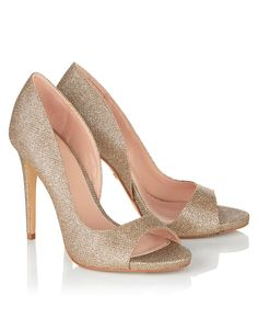 Glittery wedding shoes from Lipsy