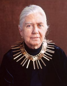 Mary Calder Rower (1939 - 2011) daughter of Alexander Calder, wearing one of his necklaces | © 2011 Maria Robledo