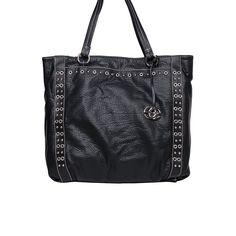 Red by Marc Ecko Short Temper Studded Tote Black up to 70% off | Handbags | Little Black Bag