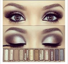 Make your eyes stand out with this dramatic style. I have this palette and this is an excellent use of the colors!