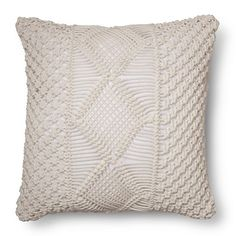 Macrame Pillow Cover Pottery Barn Accessories Pillows