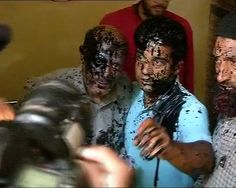 Another fringe group takes cue from Sena,attacks J&K Independent MLA Engineer Rashid with ink #AttackSquadPolitics