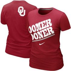 Nike Oklahoma Sooners Ladies Boomer Sooner My School Local T-Shirt - Crimson