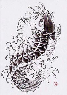 Koi Tattoo Sleeve, R Tattoo, Tattoo Flash Art, Tattoo Drawings, Card Tattoo Designs, Koi Tattoo Design, Tattoo Designs Men, Japanese Koi Fish Tattoo, Koi Fish Drawing