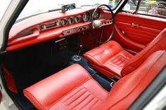 interior of classic p1800 Volvo