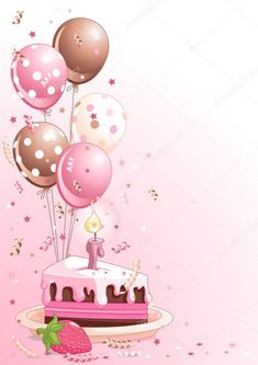 Happy Birthday Balloon Pics Unique Slice Birthday Cake with Balloons Happy Birthday Art, Birthday Wishes For Sister, Happy Birthday Wallpaper, Happy Birthday Celebration, Happy Birthday Wishes Cards, Birthday Card Sayings, Happy Birthday Pictures, Happy Birthday Balloons, Birthday Cards