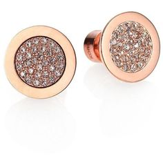 Michael Kors Pave Stud Earrings/Rose Goldtone