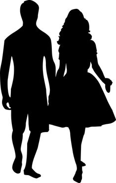 Free Image on Pixabay - Couple, Silhouette, Love Man And Woman Silhouette, Couple Silhouette, Silhouette Art, Art Sketches, Art Drawings, Shadow Images, Digital Art Girl, Couple Drawings, Beautiful Drawings