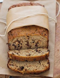 Paleo choc chip banana bread