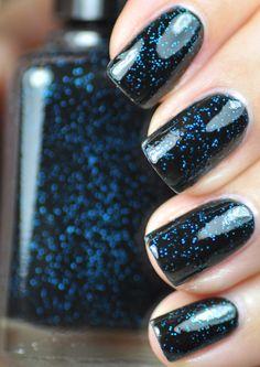 Bar Fight Black and Blue Nail Polish 15ml 5oz by TheHungryAsian, $9.25