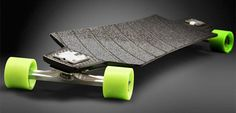 Carbon Fiber Longboard Downhill longboard made by Louis Bradier out of carbon fiber