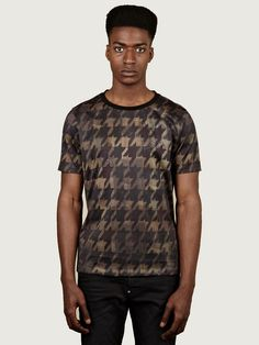 Paul Smith Men's Houndstooth Printed T-Shirt
