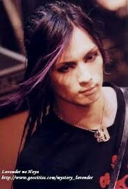 Kaoru, Dir en grey. He used to have his hair all the way to his waist