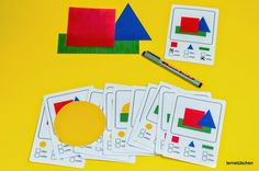 This page includes shape activities for preschool and kindergarten. Fall Preschool Activities, Fun Indoor Activities, Free Preschool, Learning Activities, Shape Activities, Math For Kids, Lessons For Kids, Math Board Games, Montessori Materials
