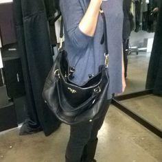 Brand new @prada bag #prada #eurotrash #shopping #bag #black #leather #treat #haul