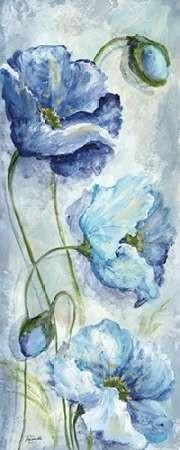 Indigo Poppies I - Roaring Brook Art
