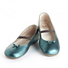 Turquoise metallic ballet flats  #littleskyefall2012