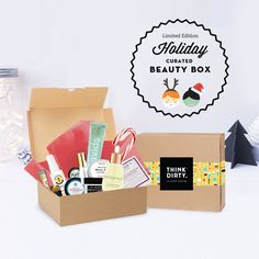 We are partnering with rated clean 0-3 beauty brand sponsors1 who support our mission to bring the most requested beauty box to you. Each box comes with 14+ hand-picked, rated clean beauty products, a full she-bang of Think Dirty swag goodies and lots of love. Valued at over $300, specially offered to you for $110 US!    The Think Dirty Clean Beauty box is the perfect gift for health-conscious significant others, hard-core yogi friends, or kale-loving besties. Or better yet, show yourself…