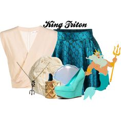 """King Triton"" by amarie104 on Polyvore"
