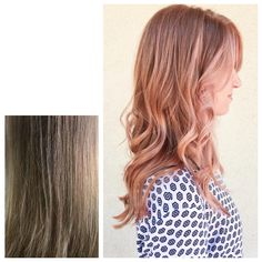 """""""Did some rose gold balayage work for this beauty. Rose Gold Balayage, Medium Bob Hairstyles, Hair Inspiration, Closer, Heaven, Hair Color, Hair Beauty, Long Hair Styles, Instagram Posts"""