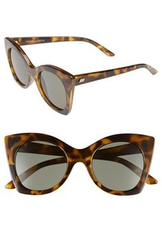 Free shipping and returns on Le Specs 'Savanna' 51mm Sunglasses at Nordstrom.com. A modern cat-eye frame defines stylish sunglasses that will shield your eyes from the sun's harsh rays.