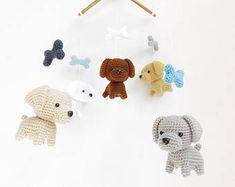 53 ideas baby crochet mobile nurseries for 2019 Labrador Bebe, Labrador Puppies, Crochet Baby Mobiles, Crochet Mobile, Baby Boy Announcement, Hand Crochet, Dog Crochet, Baby Crib Mobile, Baby Dogs