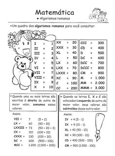 números romanos :: Sitedatata Free Childrens Games, Line Game, Gk Knowledge, Roman Numerals, Math Worksheets, Interactive Notebooks, Fun Math, Study Tips, Professor