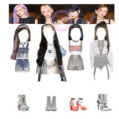 Korean Girl Fashion, Blackpink Fashion, Kpop Fashion Outfits, Stage Outfits, Korean Outfits, Retro Outfits, Dance Outfits, Cute Casual Outfits, Kpop Costume