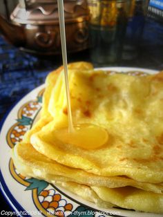 M'semmen - (also called ma'arig in Algiers) North African semolina bread/pancakes