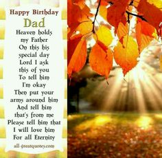 Happy birthday and anniversary daddy!  You are so loved and missed dearly!!!!!