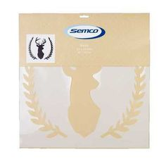 Semco Deer Head With Leaf Stencil White 18 x 18 in