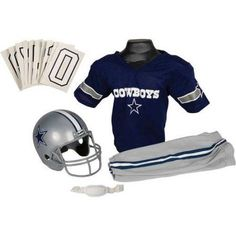 Franklin Sports NFL Deluxe Uniform Set, Size: Small, Blue