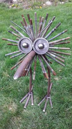 Adi haun adihaun auf pinterest for Metallskulpturen garten