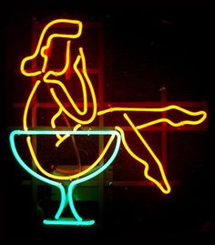"""Vintage Reproduction Neon Sign """"Martini Girl"""" by house of neon, via Flickr"""