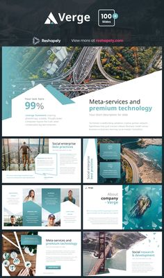 Verge is a multipurpose template that can be used for any type of presentation. This unique template gives you many possibilities of creativity. All shapes, elements, icons are vector editable and easy to change size and colors. Powerpoint Design Templates, Presentation Design Template, Presentation Layout, Graphic Design Brochure, Brochure Layout, Web Layout, Magazine Ideas, Magazine Layout Design, Slide Design