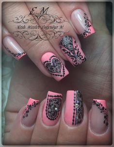 Nail Art Designs In Every Color And Style – Your Beautiful Nails Manicure, Diy Nails, Cute Nails, Gel Nail Art Designs, Pretty Nail Designs, Pretty Nail Colors, Pretty Nails, Nail Art Arabesque, Matted Nails
