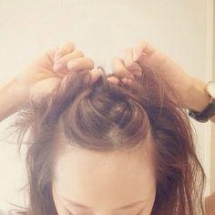 ☆大人の簡単ゆるおだんご、作り方!☆ | 田中亜希子オフィシャルブログ Powered by Ameba Hairstyles With Bangs, Diy Hairstyles, Eyeliner Tape, Hair Arrange, Short Styles, Grunge Hair, How To Make Hair, Love Hair, Her Hair