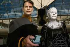 San Diego Comic-Con 2015 Borg Queen_and Assimilated Data cosplay! Female Characters, Fictional Characters, San Diego Comic Con, Joker, Photos, Pictures, Cosplay, Queen, Comics