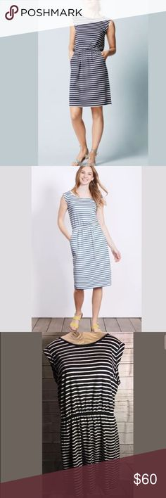 Boden Dress Navy and white striped. Pockets! Love pockets. Boden Dresses