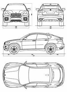 Bmw Concept X6 - Car Body Design