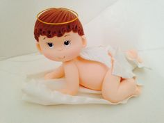 Check out this item in my Etsy shop https://www.etsy.com/listing/204957079/angel-baby-boy-cake-topper-for-your