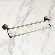 "Towel+Bar+Antique+Brass+Wall+Mounted+570+x+93mm+(22.44+x+3.66"")+Brass+Antique+–+AUD+$+61.90"