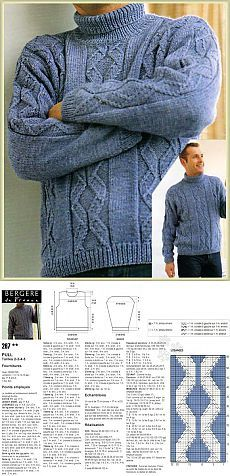 Items similar to PDF Ladies/Mens Aran Patterned Jumper Size 34 to Knitting Pattern on Etsy Knitting Paterns, Knitting Designs, Jumper, Men Sweater, Knitting For Beginners, Master Class, Crochet, Needlework, Pattern