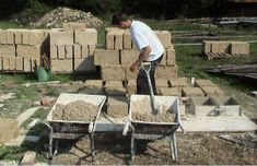 Making Hemp Bricks.  The bricks combine the functions of a load bearing wall that is fire-resistant and does not require the addition of thermal or acoustic insulation. Can you believe this sustainable product, hemp, is still illegal to grow in the U.S.!?   http://www.cannabric.com/ http://izreal.eu/2013/04/05/hemp-building-blocks/ http://www.washingtonpost.com/blogs/wonkblog/wp/2013/06/24/the-farm-bill-died-but-hemp-may-live-on/ http://www.naihc.org/