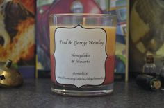 Harry Potter  Fred and George Weasley geek candle by stoneelixir, $15.00