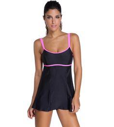 Swimming Parakini 2019 Plus Size Tankini Two Piece Bikini Ruched Swimwear Women Push Up Swim Skirt Sport Tummy Swimsuit Dress Bathing Bikinis Set