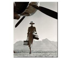 Print op canvas 1950's fashion shot, 40 x 50 cm