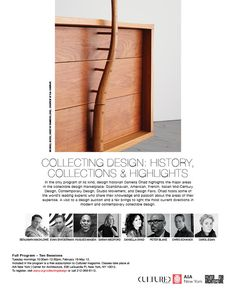 Collecting Design: History, Collections, Highlights, Spring 2020 at the Center for Architecture/AIA Bard College, Pratt Institute, Salon Art, Design History, Educational Programs, The New School, Museum Exhibition, Research Projects, Continuing Education