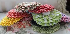 DIY ruffle fabric flower tutorial